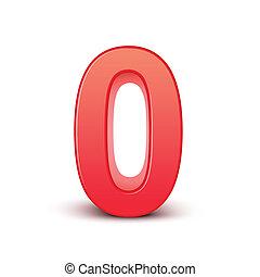 0, 光沢がある, 数, 赤