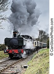Steam Locomotive - 0-6-0 Pannier Tank Steam Locomotive