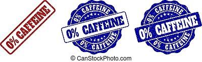 0% CAFFEINE Scratched Stamp Seals