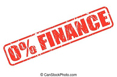 0% FINANCE red stamp text