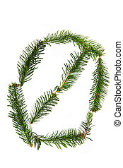 0 - number symbol from christmas alphabet