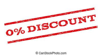 0 Percent Discount Watermark Stamp