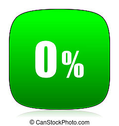 0 percent green icon