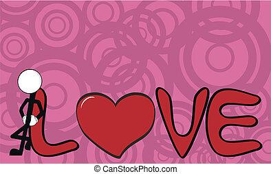 0, pictograms, amour, homme bâton