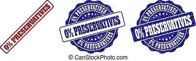 0% PRESERVATIVES Grunge Stamp Seals - 0% PRESERVATIVES...