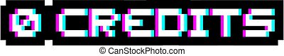 0, símbolo visual, créditos