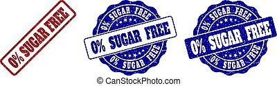 0% SUGAR FREE Scratched Stamp Seals