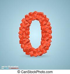 0, symbole, cubes, font.