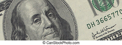 00, dollarschein, -, geld, usd, franklin, bargeld,...