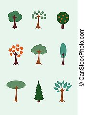 00021 Modern Tree Icon Illustrations 1.eps
