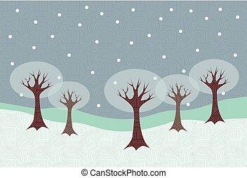 00022 Modern Winter Scene Illustration 1.eps