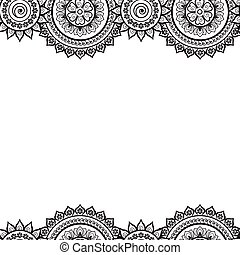 00054 Seamless India Border Vector Abstract Floral Pattern 1.eps