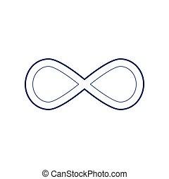 00067 - Limitless symbol illustration. Vector. Flat style...