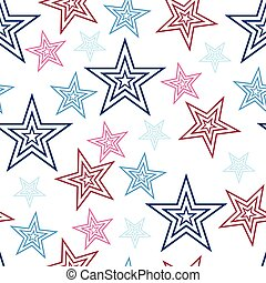 00067 Seamless Red White and Blue Stars Background Abstract Pattern 1.eps