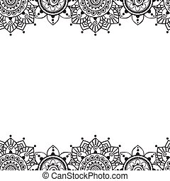 00086 Seamless Indian Borders Vector Abstract Floral Pattern 2.eps