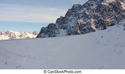 001 Mountain ski resort Shymbulak - Areal opening view on...