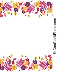00124 Seamless Bright Fall Autumn Sumac Leaves Top and Bottom Border 1.eps