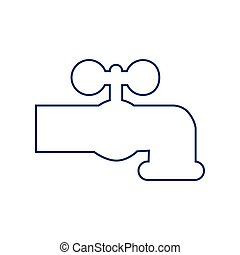 00124 - Water faucet sign illustration. Vector. Flat style...