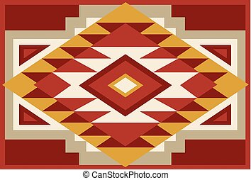00132 Abstract Red and Beige Southwest Native Background...