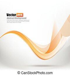 002, resumen, curva, ilustración, onda, ligth, vector, plano de fondo, naranja, elemento