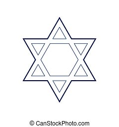 00256 - Shield Magen David Star. Symbol of Israel. Vector....