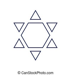 00257 - Shield Magen David Star Inverse. Symbol of Israel...