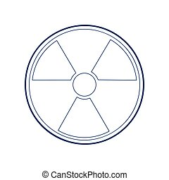 00305 - Radiation Round sign. Vector. Flat style black icon...