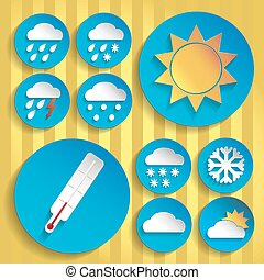 0094 Weather icon paper set