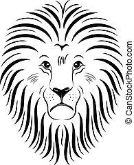 01, ライオン, 顔