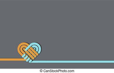 01 Handshake symbol forming a love heart