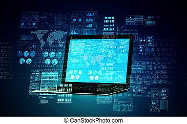 01, internet, concetto, server