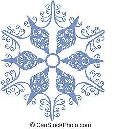 01, isolado, snowflake