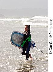 01, mec, surfeur