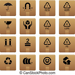 01 Packaging Icons - Professional vector set for your ...