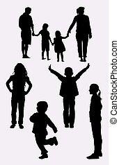 01., silhouette, gezin
