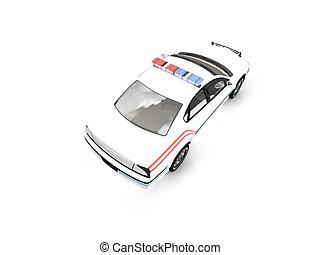 01, surveiller voiture, isolé, dos, blanc, vue