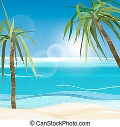 01, zee palmen