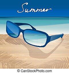 01, zonnebrillen, zee