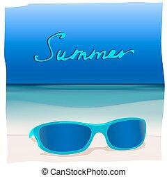 01, zonnebrillen, zee, paradijs