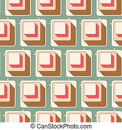 0105, patrón, seamless, retro, plano de fondo, azulejo