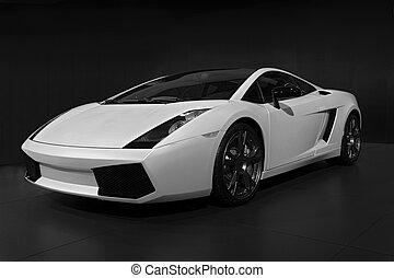 019, transporte, automático, exposição carro
