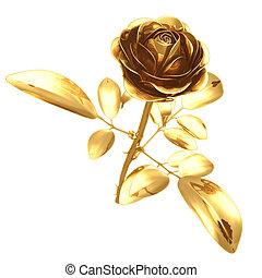 02, aranyozott, rózsa