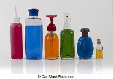 02, bouteilles, cosmétique