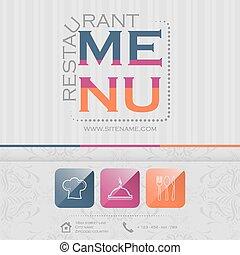 02, menu ristorante, illustrazione, elegante, vettore, disegno