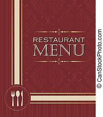 02, style, menu restaurant, couverture, conception, retro, gabarit