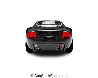 02, voiture, isolé, dos, noir, vue