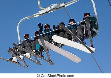 026, aufzug, ski