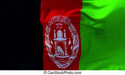 03. Afghanistan Flag Waving in Wind Continuous Seamless Loop Background.