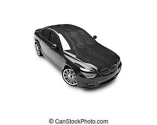 03, auto, freigestellt, schwarz, vorderansicht