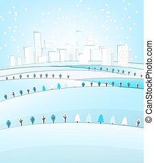 03 City winter landscape